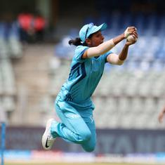 Watch: India's Harmanpreet Kaur takes one of the best catches you will ever see