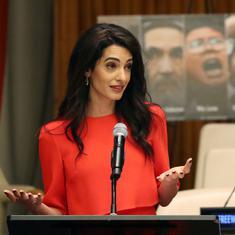 Human rights lawyer Amal Clooney urges Aung San Suu Kyi to pardon imprisoned Reuters journalists