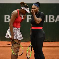 Williams sisters bagelled in deciding set as they crash out of French Open doubles event