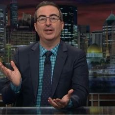 Watch: John Oliver quits Trump (for a bit) and takes up marijuana, remains just as funny
