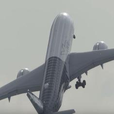 Watch: Pilot demonstrates a near vertical take-off with a huge Airbus in Berlin. (It was a stunt)