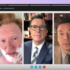 Watch: Jimmy Fallon, Stephen Colbert and Conan O' Brien unite to parody Trump's insults about them