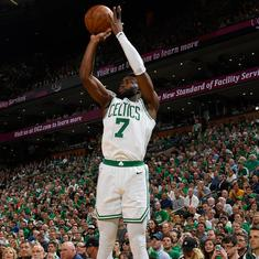 Boston Celtics win 96-83, one victory away from reaching NBA finals and knocking Cleveland out