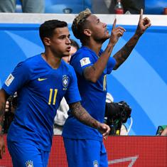 Neymar's getting there but so far, Coutinho has been carrying Brazil and that's the honest truth