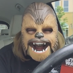Watch: Why is this video of a woman wearing a Chewbacca mask getting millions of views?