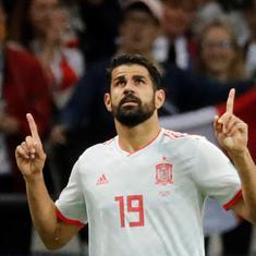 फुटबॉल विश्व कप : स्पेन ने ईरान को मात दी, उरुग्वे ने सऊदी अरब को हराया
