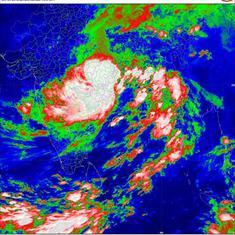 Cyclonic storm Daye hits Odisha, triggers rainfall across state