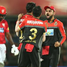 Dominant RCB thrash KXIP by 10 wickets to stay alive in race for play-off berth
