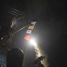 US launches missile strikes on Syrian military base in response to chemical attack