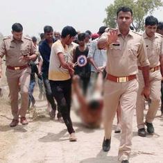 उत्तर प्रदेश : गोहत्या के शक में मार दिए गए कासिम को पुलिस के सामने घसीट कर ले जाया गया