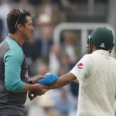 Pakistan pile misery on England in first Test but suffer Babar Azam injury blow