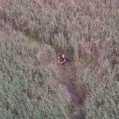 Watch: A drone helped the police to locate a 75-year-old man who got stuck in marshes