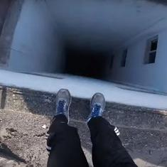 This video is probably the nearest you'll come to doing a death-defying parkour routine yourself