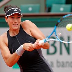 Cincinnati: Defending champ Muguruza knocked out, Wozniacki withdraws on rain-hit day