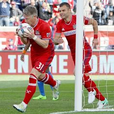 Bastian Schweinsteiger marks MLS debut with goal in Chicago Fire's 2-2 draw against Montreal Impact