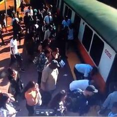 Watch: Commuters in Boston physically moved a train to rescue a trapped woman