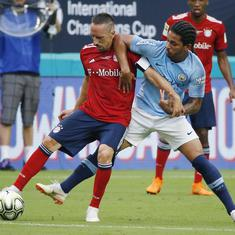 Mahrez suffers blow to ankle in Manchester City's 3-2 win over Bayern Munich