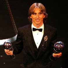 Nobody deserves this more: Twitter celebrates Luka Modric being crowned Fifa's best