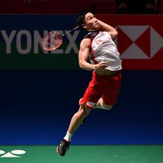 Japan Open: Kento Momota defeats top seed Axelsen, Marin sets up final clash with Okuhara