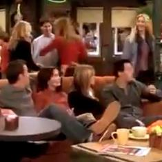 In this clip from 'F.R.I.E.N.D.S' the laughter track is hilariously replaced with Seth Rogen's voice