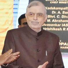 Kerala Governor P Sathasivam pays fine after his official car violates speed limit