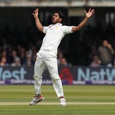 Hasan Ali, Mohammad Abbas run through England as Pakistan take day one honours at Lord's