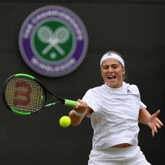 Ostapenko beats Cibulkova to become first Latvian woman to reach Wimbledon semis