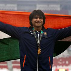 Asian Games athletics: Neeraj bags gold with new national record; Sudha, Neena and Dharun win silver