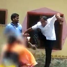 तेलंगाना : एक महिला को लात मारने वाले टीआरएस नेता के खिलाफ मामला दर्ज
