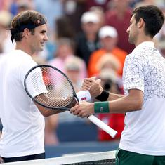 ATP Finals: Federer to face Djokovic for place in semi-finals after Berrettini beats Thiem