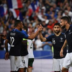Giroud and Fekir goals help France beat Ireland, Balotelli scores on Italy return