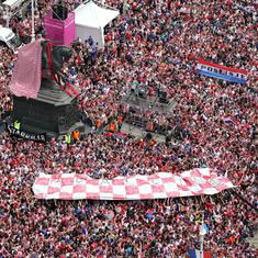 Watch: World Cup runners-up Croatia given a hero's welcome by thousands of fans
