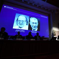 Nobel Prize for Medicine jointly awarded to two cancer researchers from US and Japan