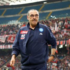 'Better to finish stories while they are good': Sarri hints at Napoli exit amid Chelsea rumours
