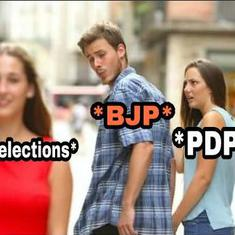'Neither PDP nor GDP, only my DP is under control': Twitter finds some humour in J&K alliance split