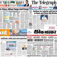 'Aadhaar stays, minus fangs and pangs': What front pages said about the SC's verdict on Aadhaar