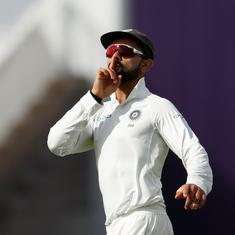 With a kiss and a mic drop: Cruising England felled by Virat Kohli run-out and nerves