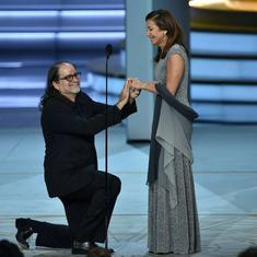 Watch: Oscars director Glen Weiss proposed to his girlfriend at the Emmy Awards on live TV