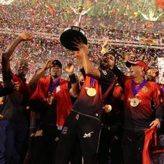 Trinbago Knight Riders beat Guyana Amazon Warriors to lift CPL title for record third time