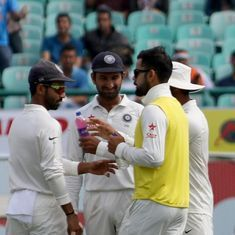 On a day when Kohli carried drinks, Rahane proved that aggression can be purely cricketing too