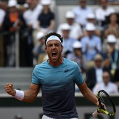'Maybe I'm sleeping': Marco Cecchinato cannot believe he beat Novak Djokovic at the French Open