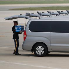 North Korea returns remains of over 50 US soldiers killed in Korean War