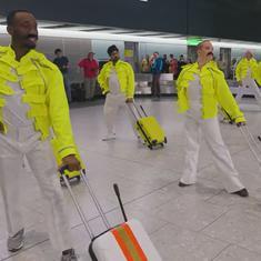 Watch: Baggage handlers at Heathrow Airport 'break free' to celebrate Freddie Mercury's birthday