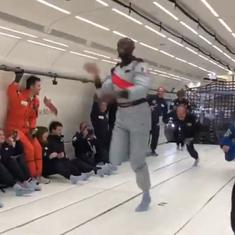 Watch: Usain Bolt has won yet another race. This time it was in zero gravity