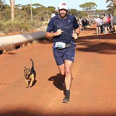 Dog wins medal after completing half-marathon in Australia, up for adoption