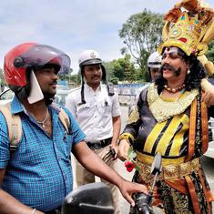 In Bengaluru, the God of Death is giving motorists lessons on saving their lives