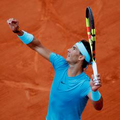 French Open, day 7 men's roundup: Imperious Nadal thrashes Gasquet; Fognini, Goffin win five-setters