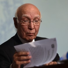 Pakistan 'deplores lethal use of force' in Kashmir, Sartaj Aziz tells UN Security Council