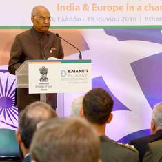 'There is no distinction between good and bad terrorists,' says President Ram Nath Kovind in Greece
