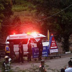 Thailand cave rescue: At least four boys brought out, operation suspended for the day
